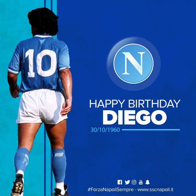"""""""Buon Compleanno Diego"""". Il Napoli fa gli auguri a ..."""